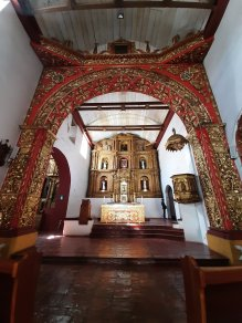 Interior view of Church of Santo Domingo